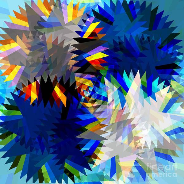 Art Poster featuring the digital art Spinning Saw by Atiketta Sangasaeng