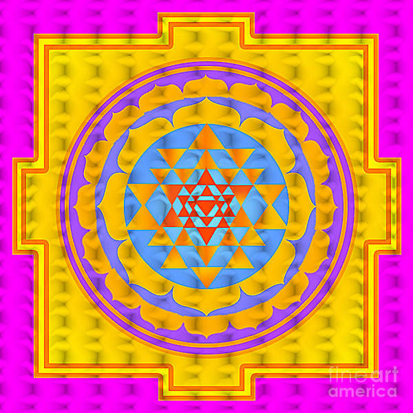 Sri Poster featuring the digital art Sri Yantra by Gia Simone