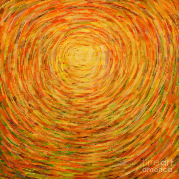 Abstract Poster featuring the painting Summer by Atiketta Sangasaeng