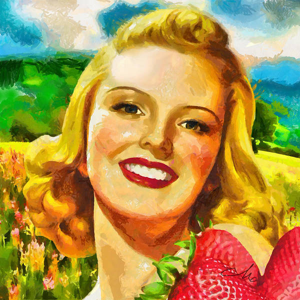 Summer Poster featuring the painting Summer Girl by Mo T