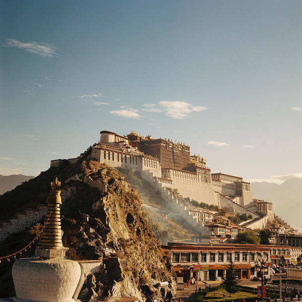Square Poster featuring the photograph Sunshine In Potala by Mona
