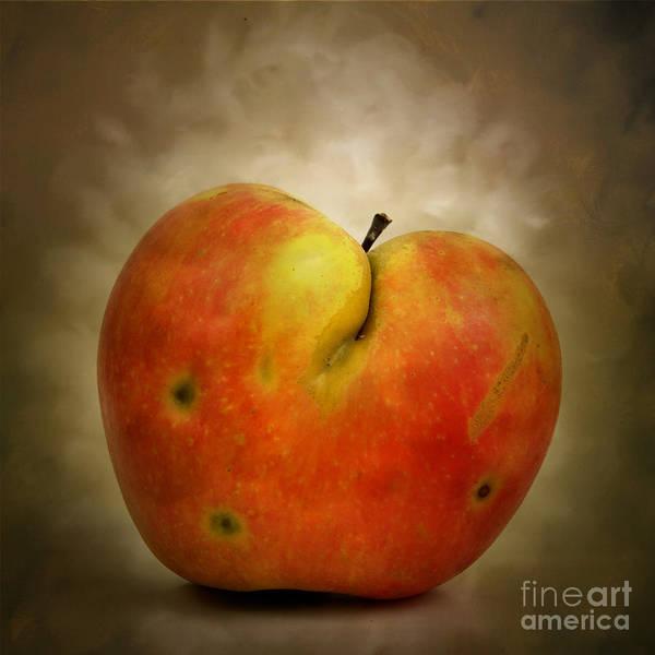 Textured Poster featuring the photograph Textured Apple by Bernard Jaubert