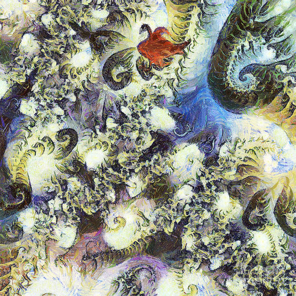 Odon Poster featuring the painting The Dream Swan by Odon Czintos