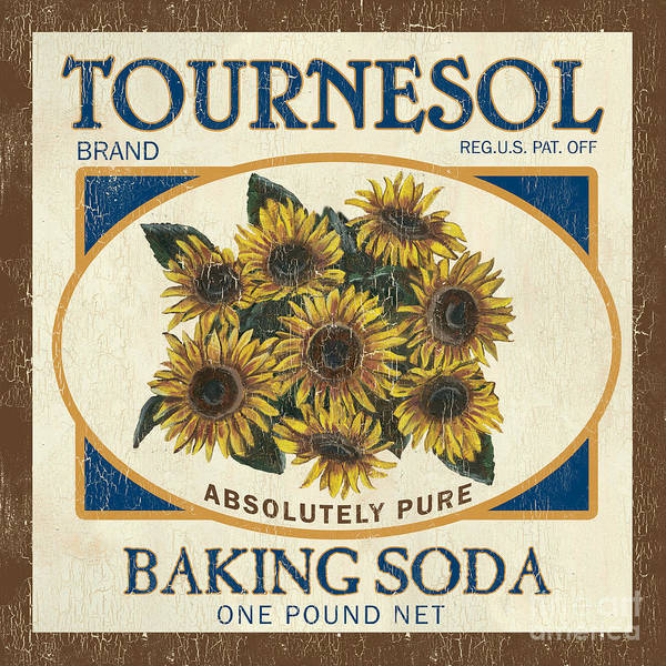 Sunflower Poster featuring the painting Tournesol Baking Soda by Debbie DeWitt