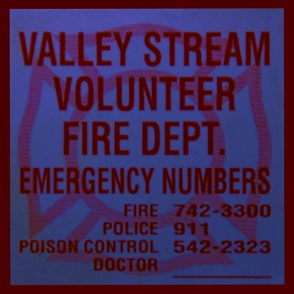 Maltese Cross Poster featuring the photograph Valley Stream Fire Department In Blue by Rob Hans