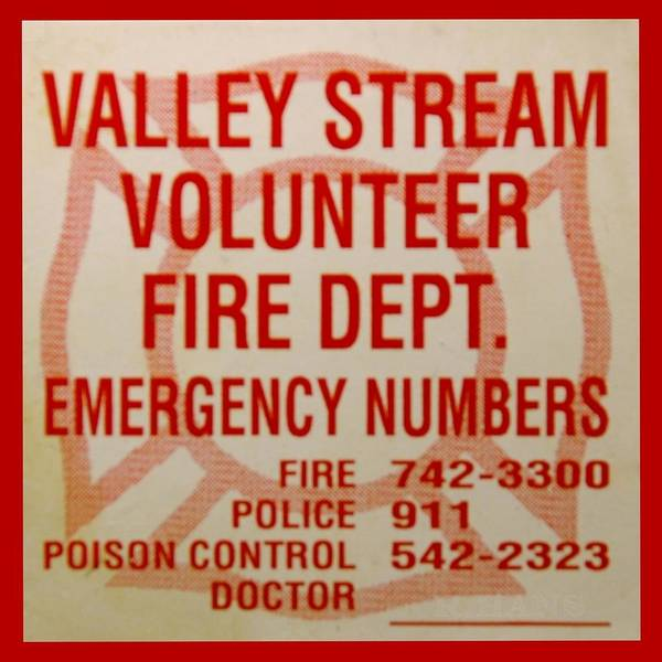 Maltese Cross Poster featuring the photograph Valley Stream Fire Department by Rob Hans
