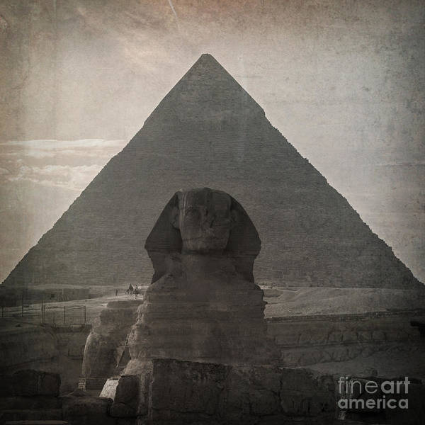 Africa Poster featuring the photograph Vintage Sphinx by Jane Rix