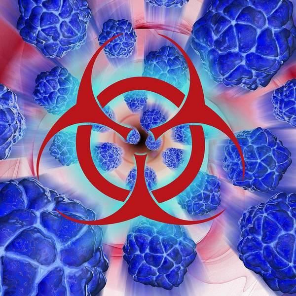 Artwork Poster featuring the photograph Viral Pathogens, Conceptual Artwork by Laguna Design
