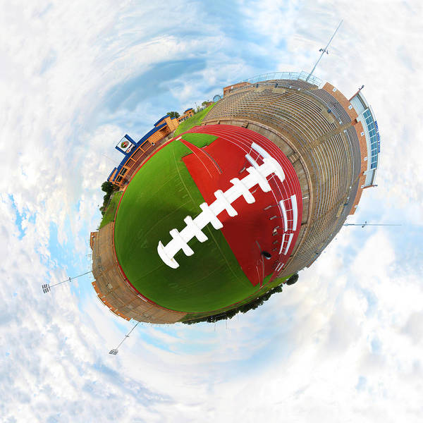Wee Planet Poster featuring the digital art Wee Football by Nikki Marie Smith