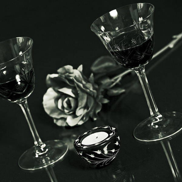 Glass Poster featuring the photograph Wine For Two by Joana Kruse