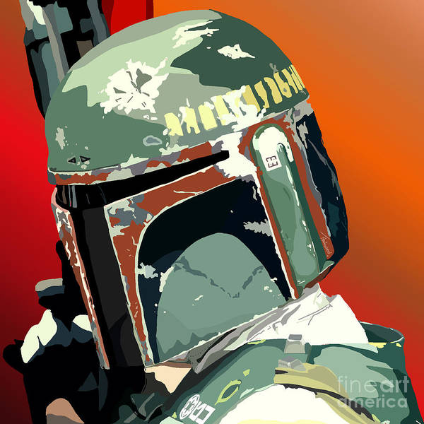 Bobba Fett Poster featuring the painting 067. He's No Good To Me Dead by Tam Hazlewood