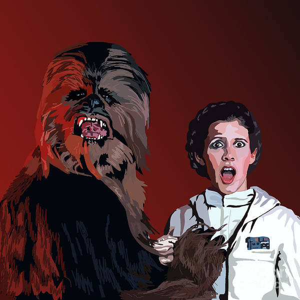 Chewbacca Poster featuring the painting 070. Naughty Wookie by Tam Hazlewood