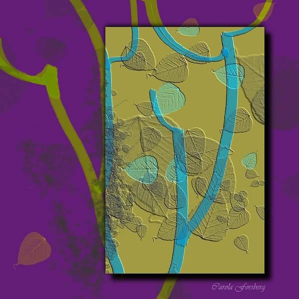 Abstract Digital Art Poster featuring the digital art Attitude by Carola Ann-Margret Forsberg