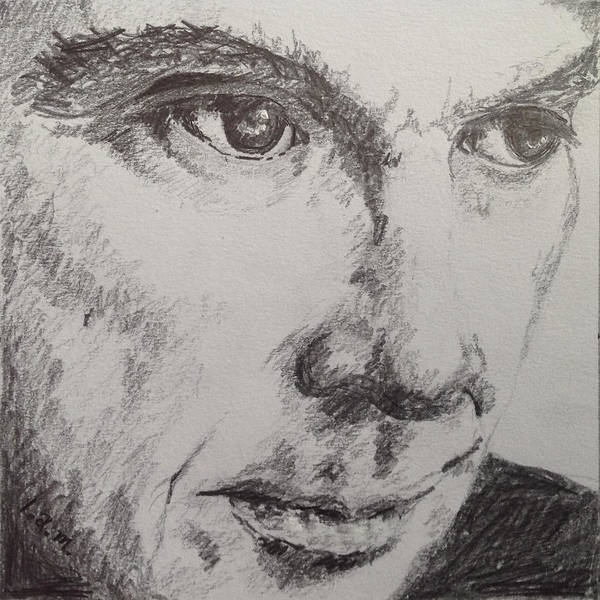 Black And White Poster featuring the drawing David Byrne by Laurel McFarland