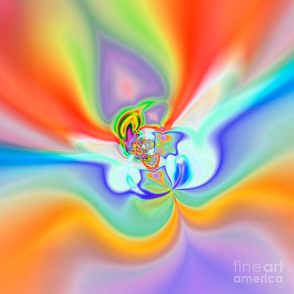 Abstract Poster featuring the digital art Flexibility 39c1 by Rolf Bertram