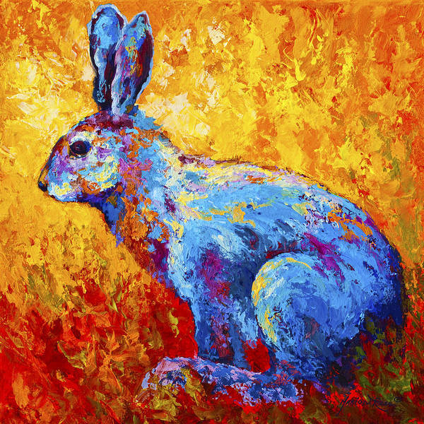 Rabbit Poster featuring the painting Jackrabbit by Marion Rose