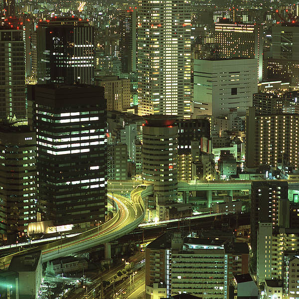 Japan Poster featuring the photograph Osaka At Night by Oleg Volkov