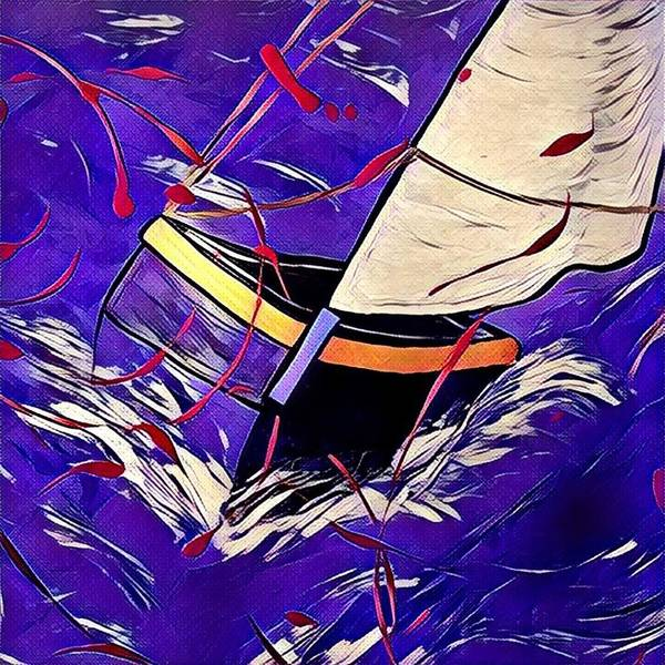 Poster featuring the digital art Sail by Melinda Sullivan Image and Design