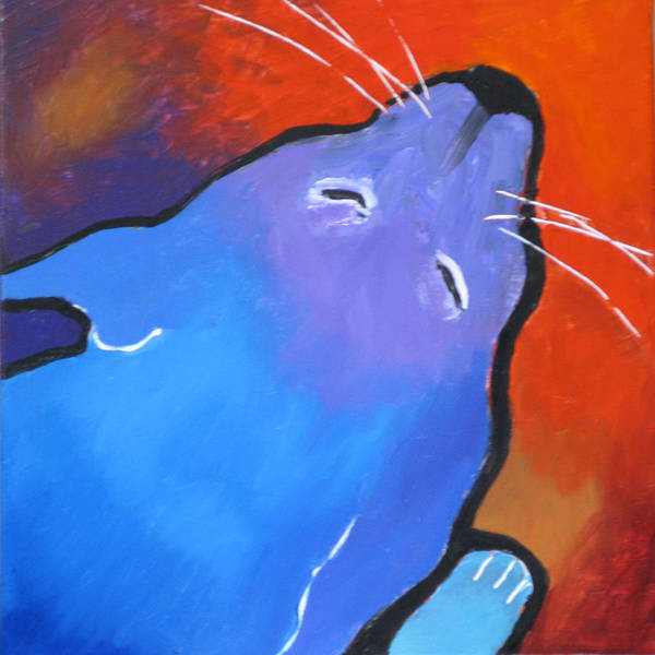 Cat Poster featuring the painting Sleep by Robert Bissett
