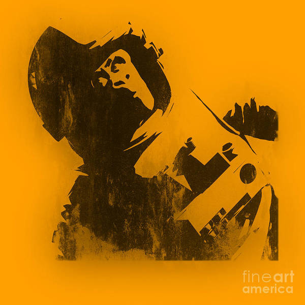 Banksy Poster featuring the photograph Space Ape by Pixel Chimp