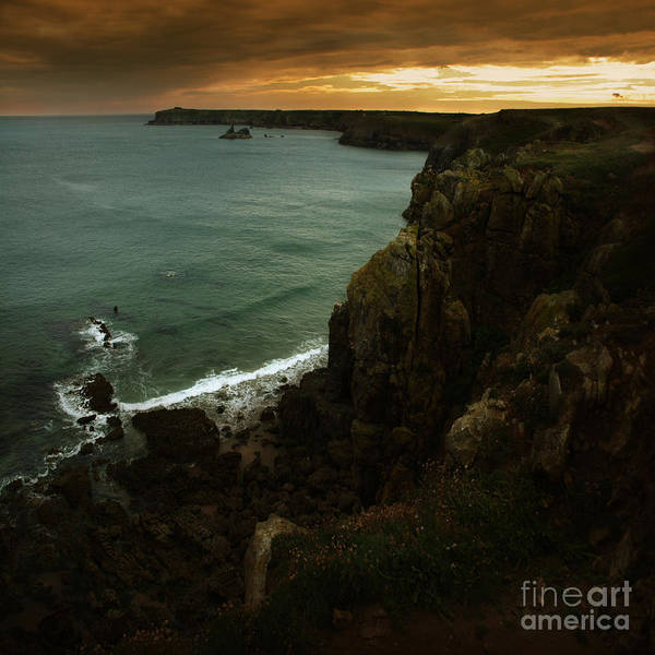 Cliff Poster featuring the photograph The Pembrokeshire Cliffs by Angel Ciesniarska