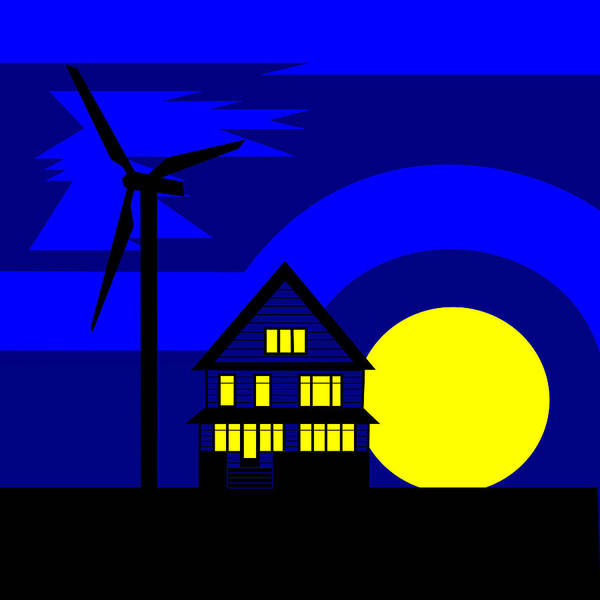 Energy Poster featuring the painting Wind And Sun by Asbjorn Lonvig