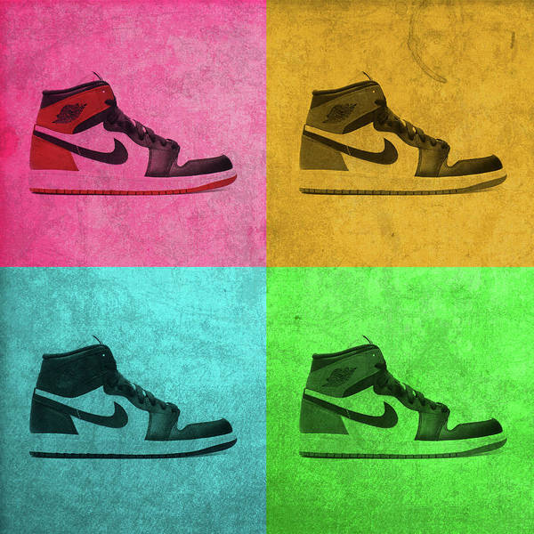 new styles 2c586 638c0 1988 Poster featuring the mixed media 1988 Original Air Jordan Basketball  Shoes Vintage Pop Art Color