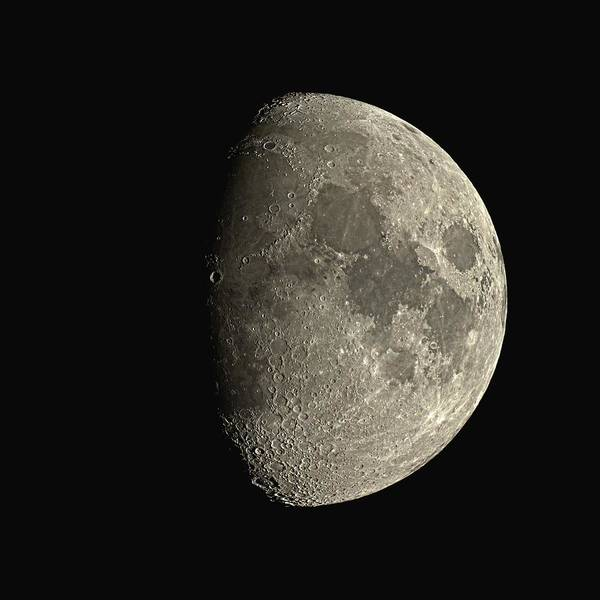 Moon Poster featuring the photograph Waxing Gibbous Moon by Eckhard Slawik