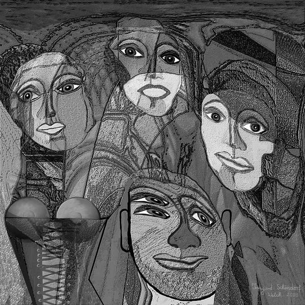 Woman Poster featuring the digital art 256 - Nice People by Irmgard Schoendorf Welch