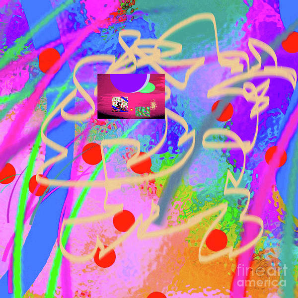 Walter Paul Bebirian Poster featuring the digital art 3-10-2015dabcdefghijklmnopqrtuvwxyzabcdefghijk by Walter Paul Bebirian
