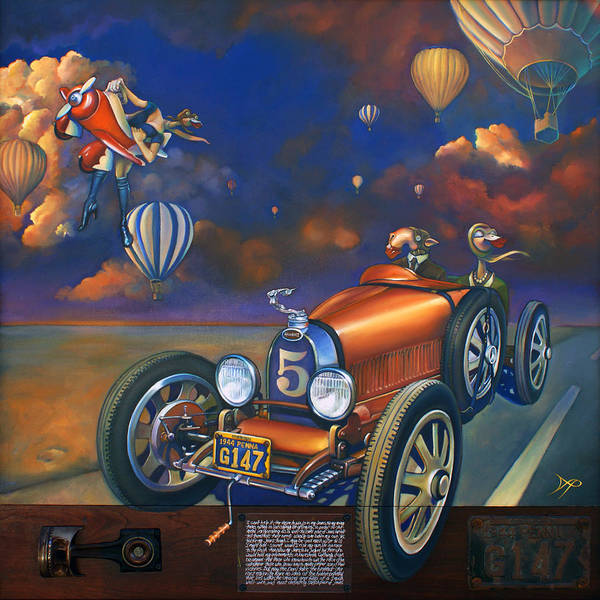 Bugatti Poster featuring the painting A Selfish Pair Of Jeans by Patrick Anthony Pierson