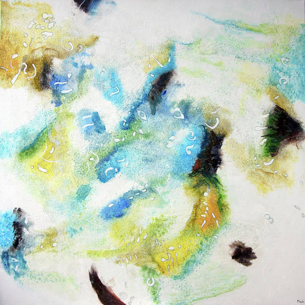 Mixed Media On Canvas Poster featuring the painting 5 by Maria Klimek