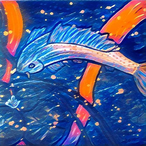 Poster featuring the digital art Koi Fish by Melinda Sullivan Image and Design