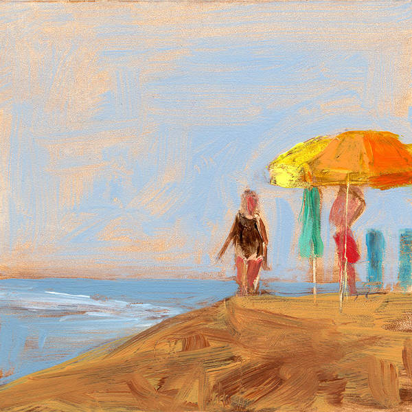 Beach Poster featuring the painting Rcnpaintings.com by Chris N Rohrbach