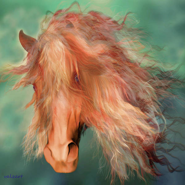 Horse Art Poster featuring the painting A Horse Called Copper by Valerie Anne Kelly