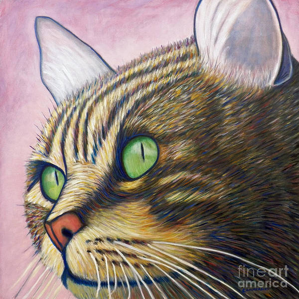 Cat Poster featuring the painting A New Day by Brian Commerford