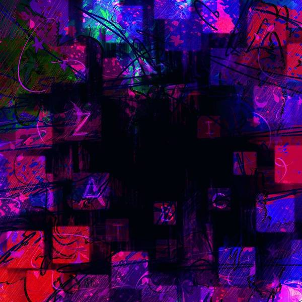 Abstract Poster featuring the digital art Abc's by Rachel Christine Nowicki