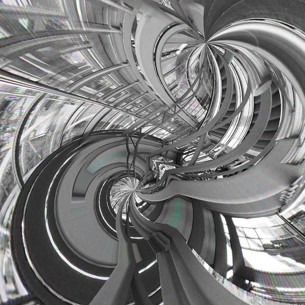 Abstract Poster featuring the digital art Abstract Architecture by Marco De Mooy