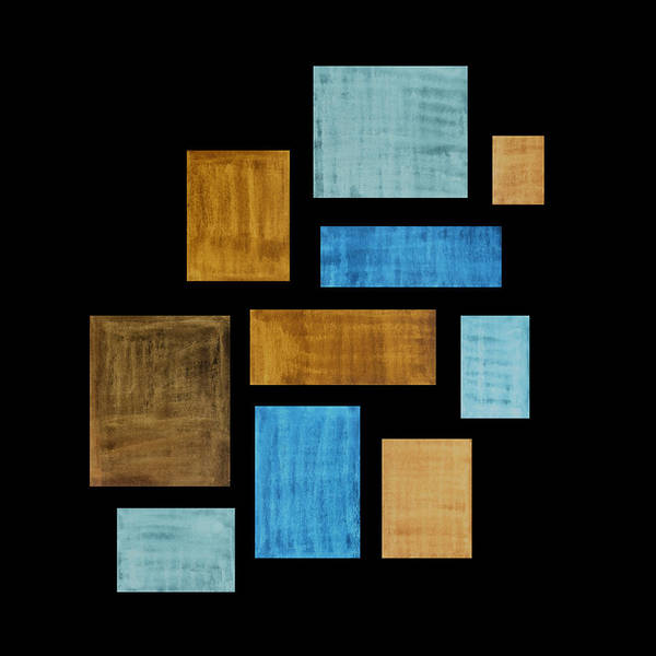 Frank Tschakert Poster featuring the painting Abstract Rectangles by Frank Tschakert