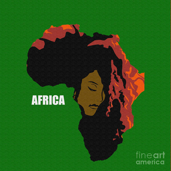 Africa Poster featuring the digital art Africa Woman by Antonio Davis