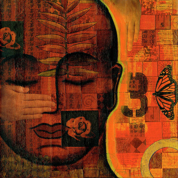 Buddha Poster featuring the painting All Seeing by Gloria Rothrock