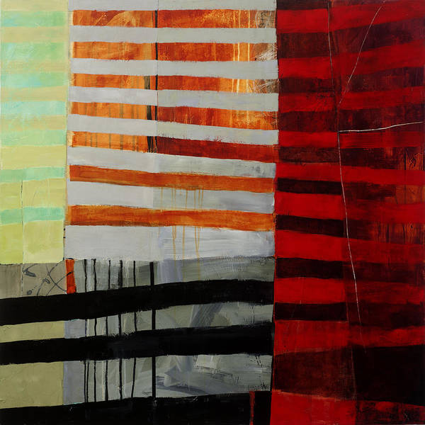 Abstract Art Poster featuring the painting All Stripes 1 by Jane Davies