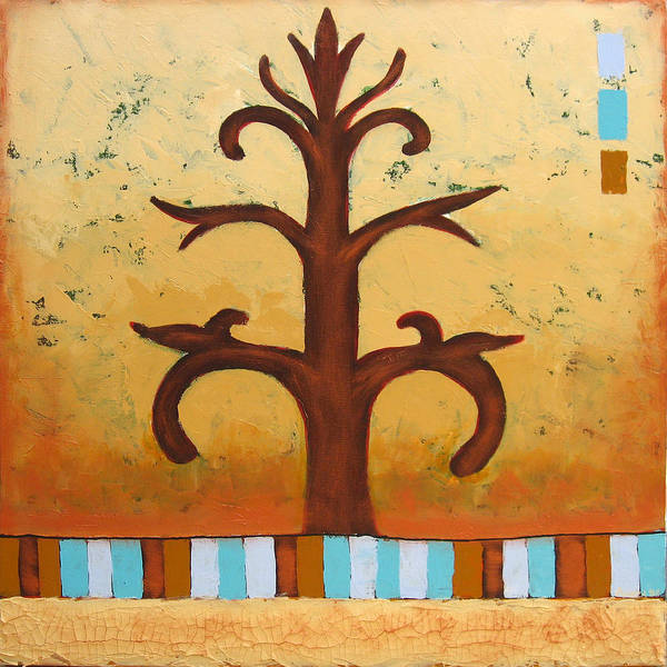 Tree Poster featuring the painting Antiquity 2 by Aliza Souleyeva-Alexander