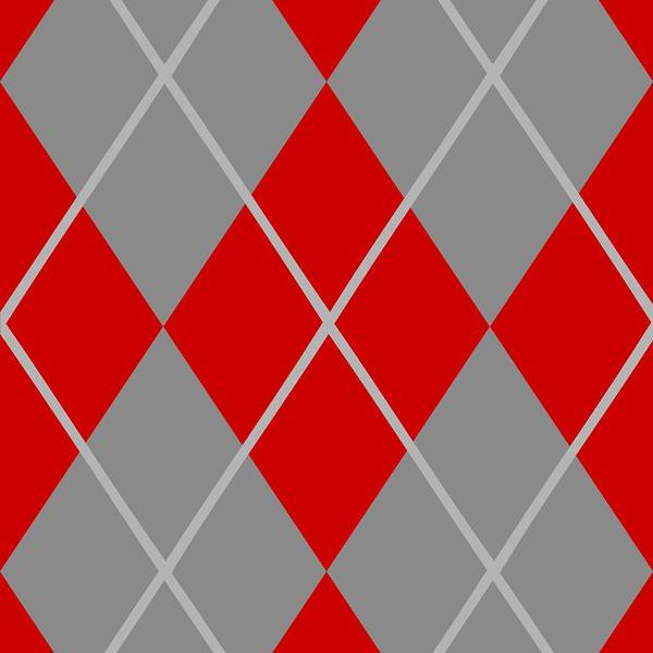 Pattern Poster featuring the digital art Argyle Diamond With Crisscross Lines In Paris Gray N02-p0126 by Custom Home Fashions