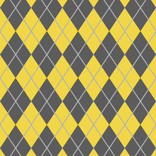 Argyle Poster featuring the digital art Argyle Diamond With Crisscross Lines In Pewter Gray N05-p0126 by Custom Home Fashions
