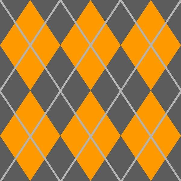 Argyle Poster featuring the digital art Argyle Diamond With Crisscross Lines In Pewter Gray T03-p0126 by Custom Home Fashions
