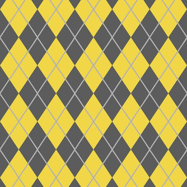 Argyle Poster featuring the digital art Argyle Diamond With Crisscross Lines In Pewter Gray T05-p0126 by Custom Home Fashions