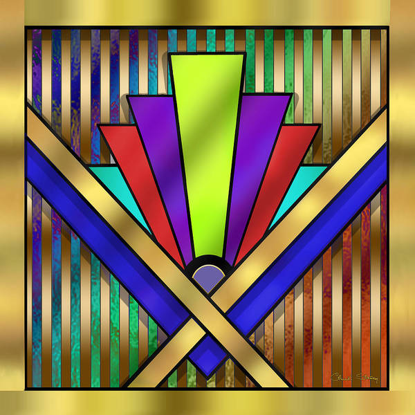 Art Deco 23 Poster featuring the digital art Art Deco 23 by Chuck Staley