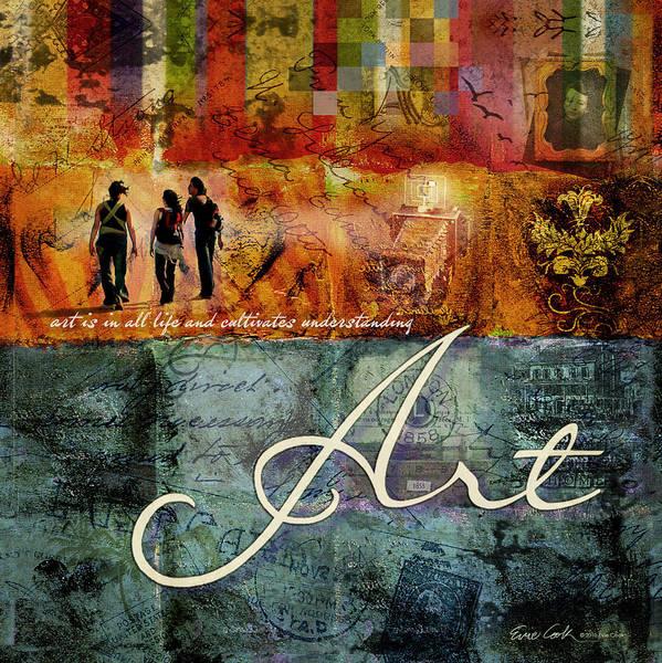 Art Poster featuring the digital art Art by Evie Cook