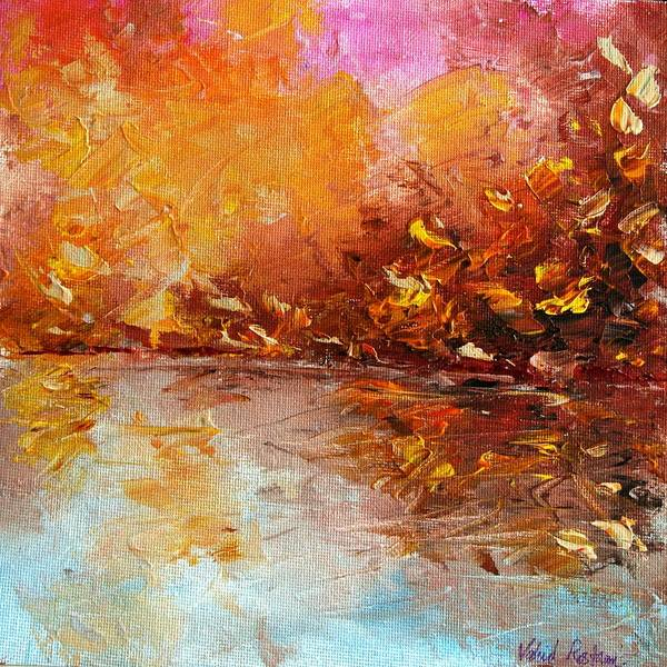 Acrylic Poster featuring the painting Autumn Everywhere by V R